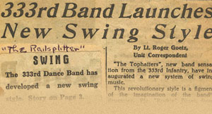 """333rd Band Launches New Swing Style"""